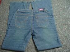 Vintage Bubblegum USA Women's JEANS  7/8 Stretch Blue Stripe Wash BootCut 31X33