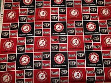 UNIVERSITY OF ALABAMA - CRIMSON TIDE -BRAND  NEW SQUARE DESIGN 1 YARD PIECE