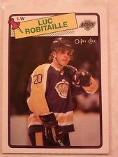 1988-89 OPC O-Pee-Chee Luc Robitaille Card 124 Very Nice Card