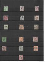 Württemberg 1875, Einzelmarken aus Michelnrn.: aus 44 - 62 o, BPP, gestempelt o