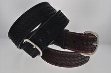 """New 1 5/8"""" WIDE WESTERN BASKET WEAVE Leather Belt 727"""