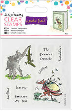 Docrafts Roald Dahl 6 clear stamps set Fantastic Mr Fox & The Enormous Crocodile