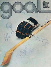 Emile The Cat Francis & Bill Big Whistle Chadwick JSA Signed '73 Hockey Program