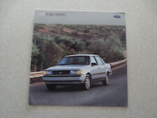 1989 Ford Tempo car advertising booklet