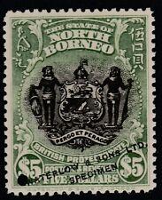 North Borneo (1664) - 1911 Arms $5 PRINTER's SAMPLE unmounted mint