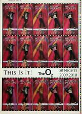 MICHAEL JACKSON Rare uncut sheet of THIS IS IT UK concert tickets VERSION 3