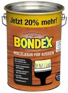 Bondex Holzlasur für Außen, 4,8l für 62,4m², 8Farben, witterungsbeständig