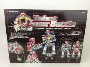 Vintage Radio Shack Robot Lazer Battle Wireless Remote Controlled Game Sealed