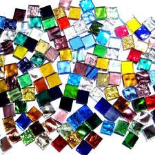 100pcs Assorted Color Square Glass Mosaic Tiles For DIY Crafts Supplier 1cmX1cm