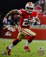 Matt Breida Autographed San Francisco 49ers 8x10 PF Photo- Beckett W Auth *White