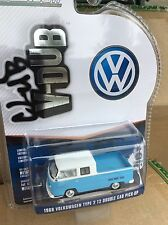 Greenlight  Club V - Dub 1968 Volkswagen T2 Type 2 Crew cab pickup blue & white