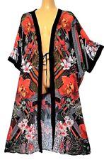 TS top TAKING SHAPE plus sz M / 16,18,20 Madagascar Kimono sheer rp$130