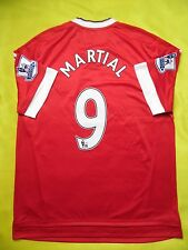 5+/5 MANCHESTER UNITED #9 MARTIAL JERSEY 2015-2016 HOME ADIDAS ORIGINAL SHIRT
