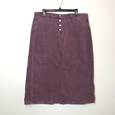 Vintage 90s Calvin Klein Maroon Corduroy Upcycled Button Fly Long Skirt Size 14