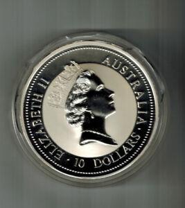 10 Oz.--1997 Australian Kookaburra .999 Fine Silver