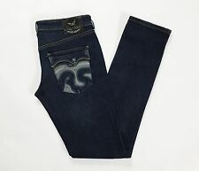 Replay sons w25  38 40 jeans donna slim skinny usati blu denim vita bassa T1211