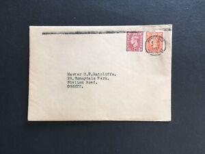 GB 1952 WAKEFIELD YORKSHIRE SINGLE RING (21mm) POSTMARK ON CLEAN COVER TO OSSETT