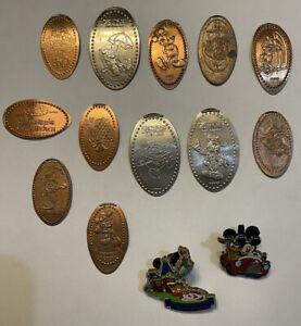 Disneyworld Walt Disney Vintage Souvenir Coins & Lapel Pins From Florida Parks