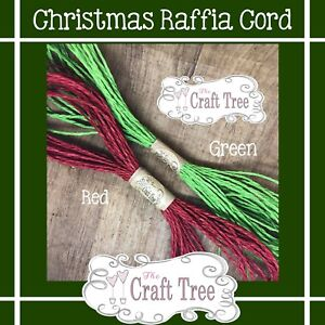 Christmas Paper Raffia Cord / Twine / Rope / String - Pack of 2