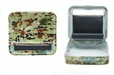 Metal Roller Tobacco Case Army Camo Automatic Rolling Machine Smoking 70mm