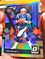 2017 Optic Silver Holo/Prizm Patriots Tom Brady Exc