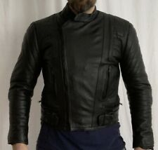Leather Motorcycle Jacket Padded- Diamond, Vintage, lining & zips all good