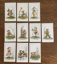 VINTAGE ITALIAN SET OF 9 UNPRINTED HUMMEL PRAYER CARDS NEW