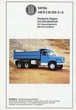 Prospectus tatra 148 s3 26.256 6x6 dreiachskipper motrices de chantier véhicule