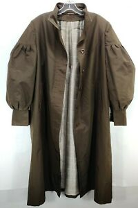 ZILLI Paris Trench Coat Jacket Puffer Arms Silk Lining Fashion Brown France Sz S