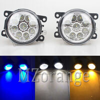 2x LED Front Bumper Fog Light Lamps For Grand Vitara Alto Baleno Jimny Swift SX4