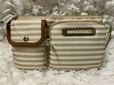 Lily Bloom Women's Janet Belt Bag Khaki Stripe Expandable to 40 inches Fast Ship