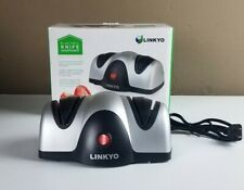 New listing Linkyo 2-Stage Electric Knife Sharpener Open Box
