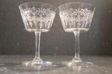 Drinkware/Stemware Etched Date-Lined Glass