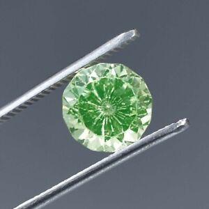 AAA Flawless 5.10 Ct Natural Green Montana Sapphire Round Cut GIT Certified Gem