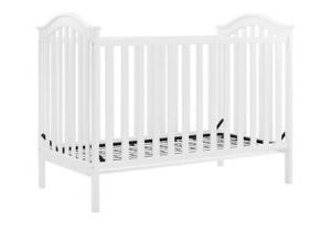 Adelyn 2-in-1 Convertible Crib, White, Baby Relax