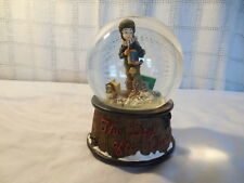 Saturday evening post The day after Christmas musical snow globe