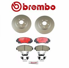 Set of 2 Front Rotors & Brembo Pads Acura Honda