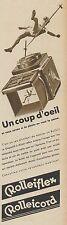 Y8659 Apparecchio fotografico Rolleiflex Rolleicord - Pubblicità - 1936 Old ad