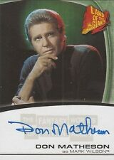 "Fantasy Worlds of Irwin Allen - A11 Don Matheson ""Don Wilson"" Autograph Card"