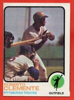 1973 Topps #50 Roberto Clemente VG-VGEX+ MISCUT Pittsburgh Pirates HOF FREE S/H