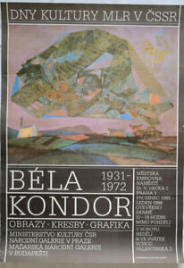 Poster Plakat - Bela Kondor - Obrazy - Kresby - Grafika - Praha 1985
