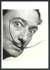 Salvador Dali nel 1954 - fotografia di Philippe Halsman - cartolina