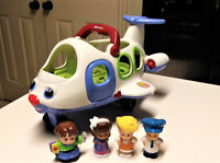 Fisher Price Little People Airplane with Pilot and People