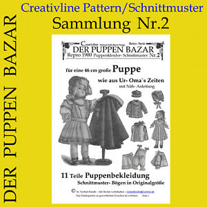 DER PUPPEN BAZAR Nr. 2 - Schnittmuster Puppenkleidung