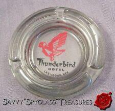 Thunderbird Hotel Las Vegas Nevada Smoked Glass Ashtray
