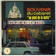 Pochette Auto 45 tours Souvenir du Cabaret Au pied de la Butte 1970