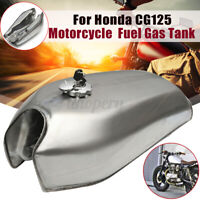 2.4 Gal Motorcycle Fuel Gas Tank For Honda CG125 Cafe Racer Bare Steel