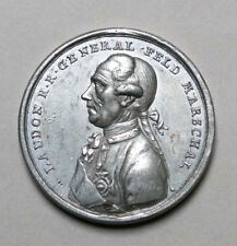 ERNST GIDEON VON LAUDON CAPTURE  OF BELGRADE 1789  TIN MEDAL
