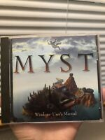 Myst for MacIntosh PC CD-ROM Vintage Computer Game, Complete With Manual