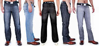 MENS CLASSIC JEANS REGULAR FIT WITH BELT BY AD 28 - 40 42 44 46 48 50 52 54